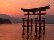 The floating Torii of Miyajima Itsukushima Shrine